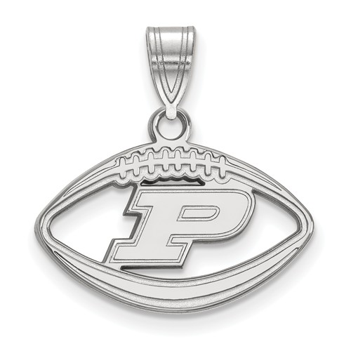 Sterling Silver Purdue University Football Pendant