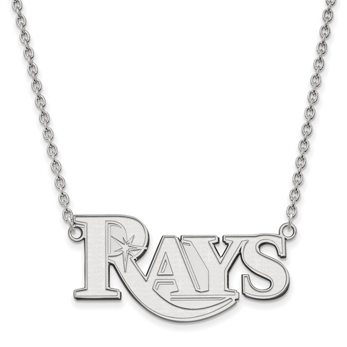 Sterling Silver Tampa Bay Rays Pendant on 18in Chain
