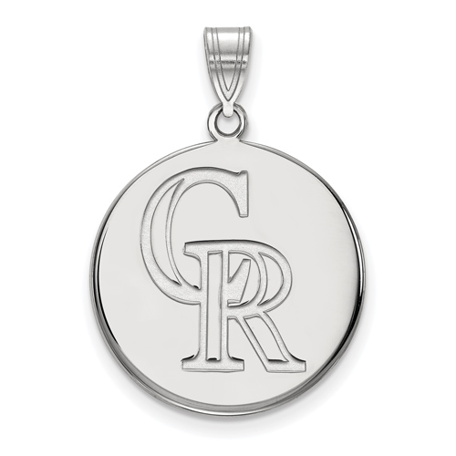Sterling Silver 3/4in Colorado Rockies Pendant