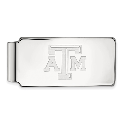 Sterling Silver Texas A&M University Money Clip
