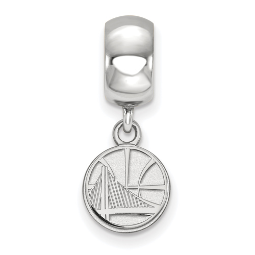 Sterling Silver Golden State Warriors Dangle Bead Charm