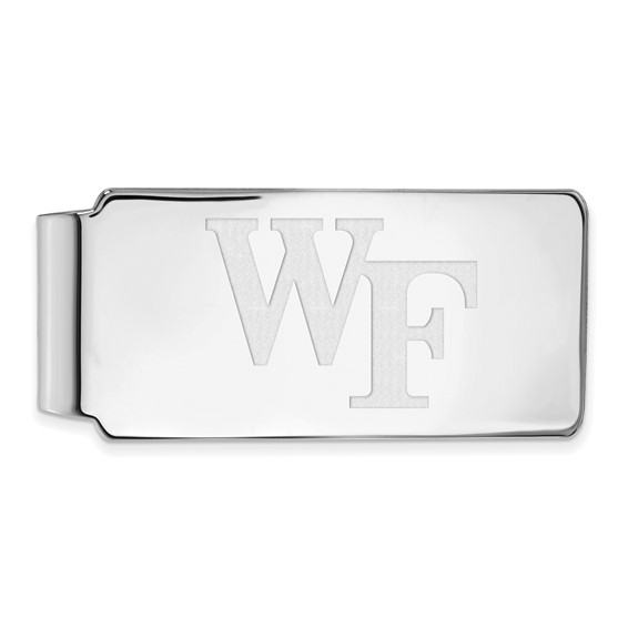 Wake Forest University Money Clip 14k White Gold