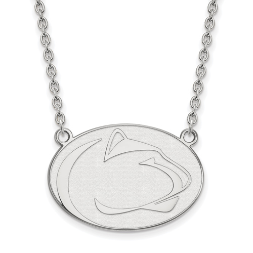 Sterling Silver Penn State University Enamel Pendant with 18in Chain