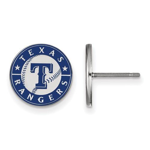 Sterling Silver Texas Rangers Small Enamel Post Earrings