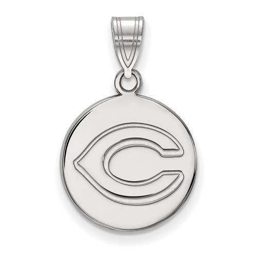 Sterling Silver 5/8in Round Cincinnati Reds Pendant