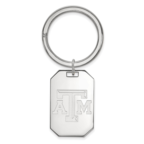 Sterling Silver Texas A&M University Key Chain