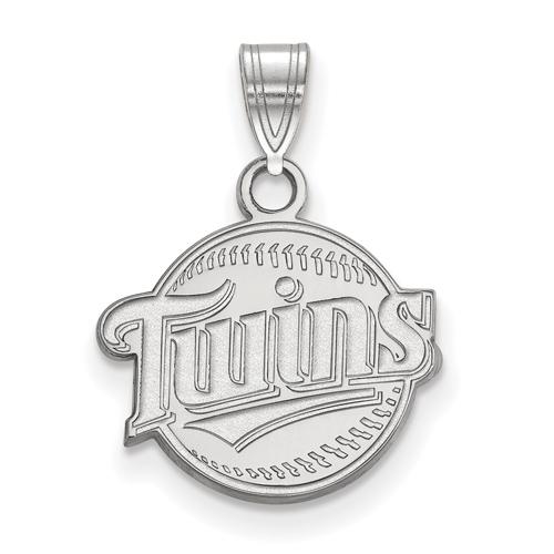 14k White Gold 1/2in Minnesota Twins Baseball Pendant