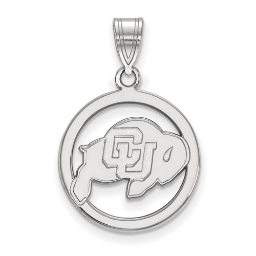 University of Colorado Circle Pendant Sterling Silver