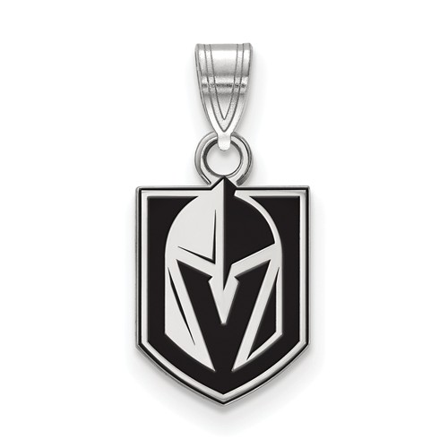 Vegas Golden Knights Enamel Pendant 1/2in Sterling Silver