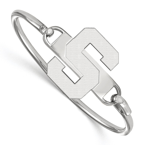 Sterling Silver 6in Michigan State University Bangle