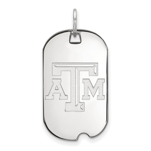 Sterling Silver Texas A&M University Small Dog Tag