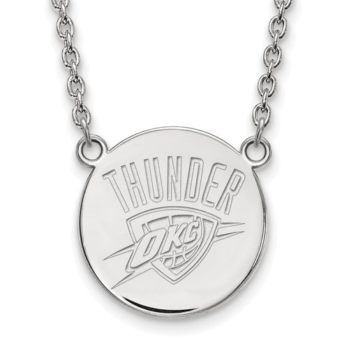 Sterling Silver Oklahoma City Thunder Pendant on 18in Chain