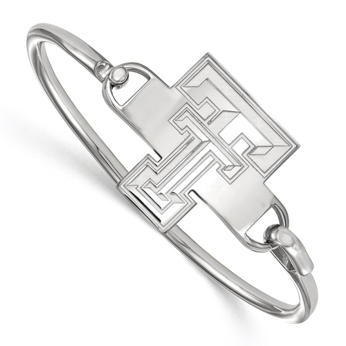 Sterling Silver 6in Texas Tech University Bangle