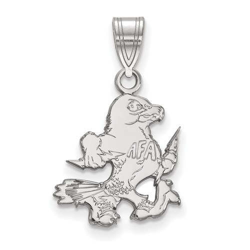 United States Air Force Academy The Bird Pendant 5/8in 10k White Gold