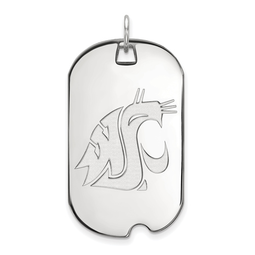 Sterling Silver Washington State University Dog Tag