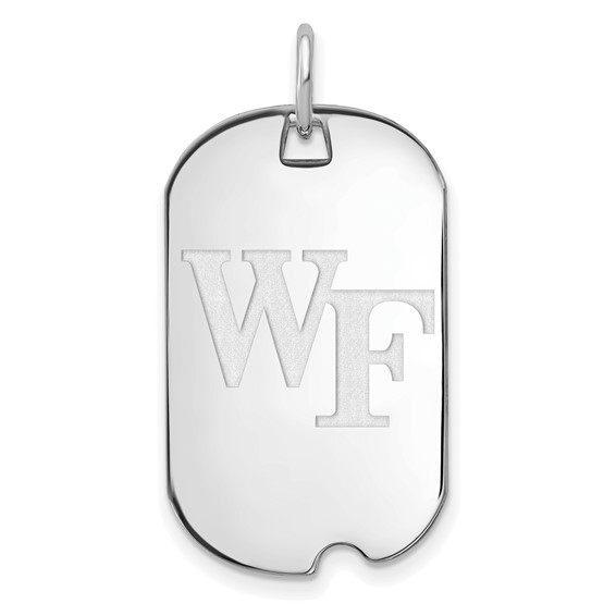 10k White Gold Wake Forest University Small Dog Tag