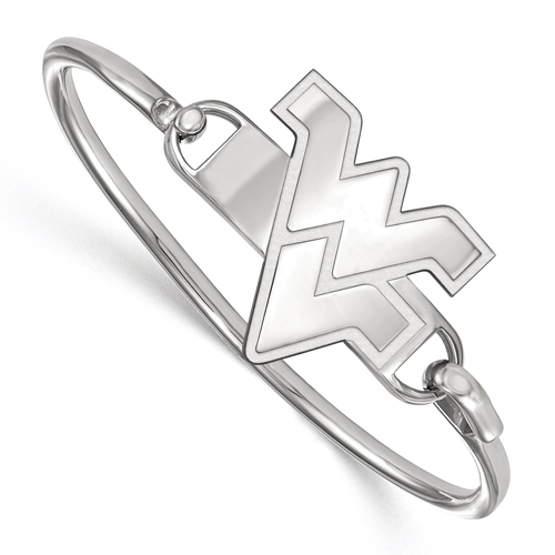 Sterling Silver 7in West Virginia University Bangle