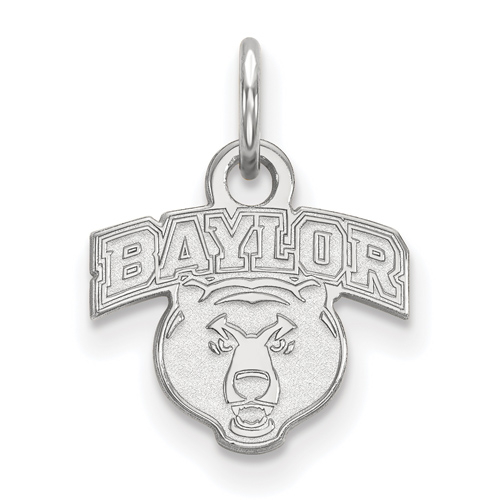 Sterling Silver 3/8in Baylor University Bear Head Charm