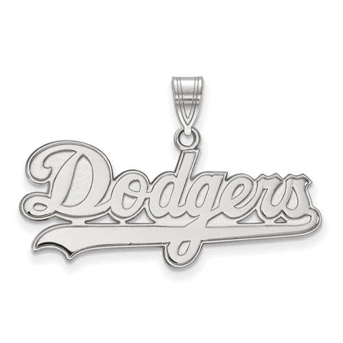 14k White Gold Los Angeles Dodgers Name Pendant