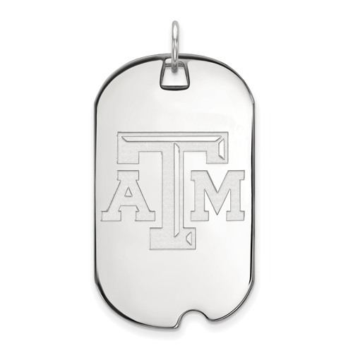 Sterling Silver Texas A&M University Dog Tag