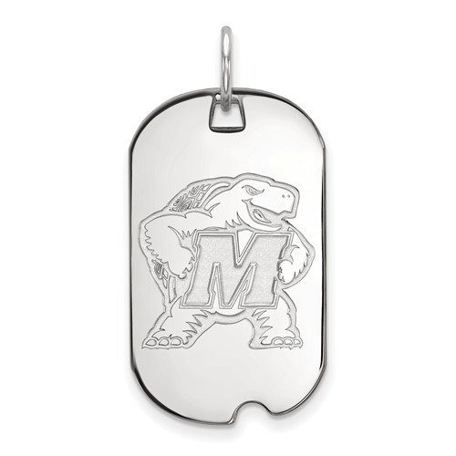 Sterling Silver University of Maryland Small Dog Tag