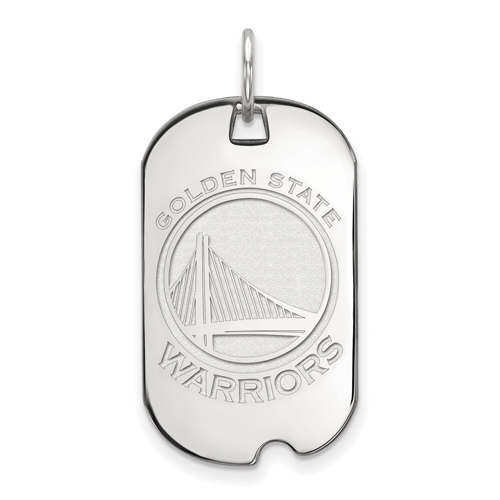Sterling Silver Golden State Warriors Small Dog Tag