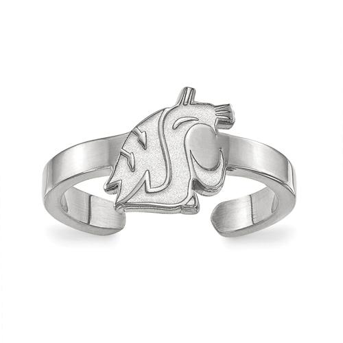 Sterling Silver Washington State University Toe Ring