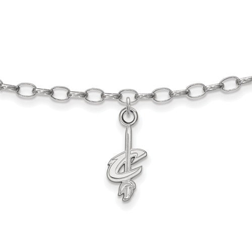 Sterling Silver Cleveland Cavaliers Anklet