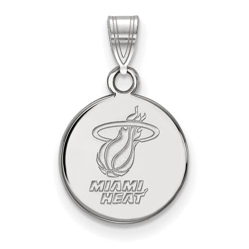 Sterling Silver 1/2in Miami Heat Pendant