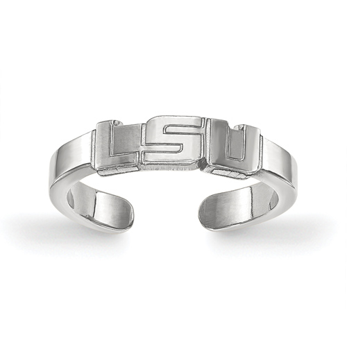 Sterling Silver Louisiana State University Toe Ring