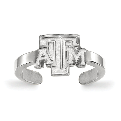 Sterling Silver Texas A&M University Toe Ring