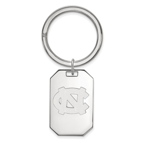 Sterling Silver University of North Carolina Key Chain