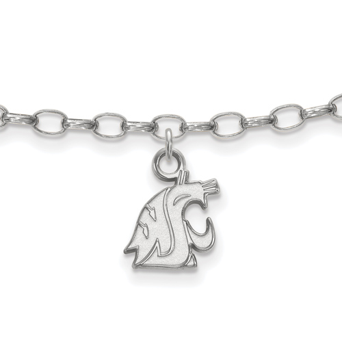 Sterling Silver 9in Washington State University Anklet