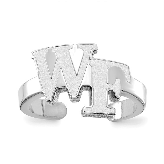 Sterling Silver Wake Forest University Toe Ring