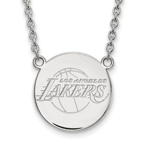 Sterling Silver Los Angeles Lakers Pendant on 18in Chain
