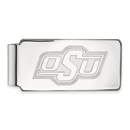 Sterling Silver Oklahoma State University OSU Money Clip