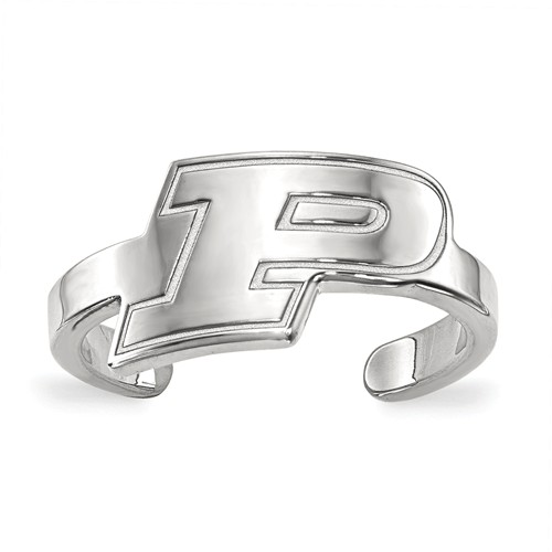 Sterling Silver Purdue University Toe Ring