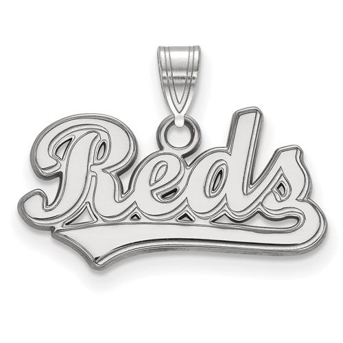 Sterling Silver 3/8in Cincinnati Reds Script Pendant