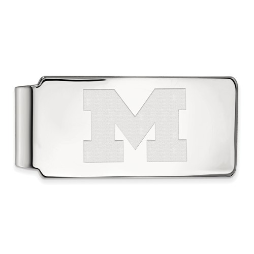 Sterling Silver University of Michigan Money Clip