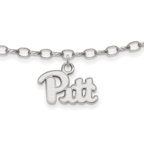 Sterling Silver 9in University of Pittsburgh Anklet