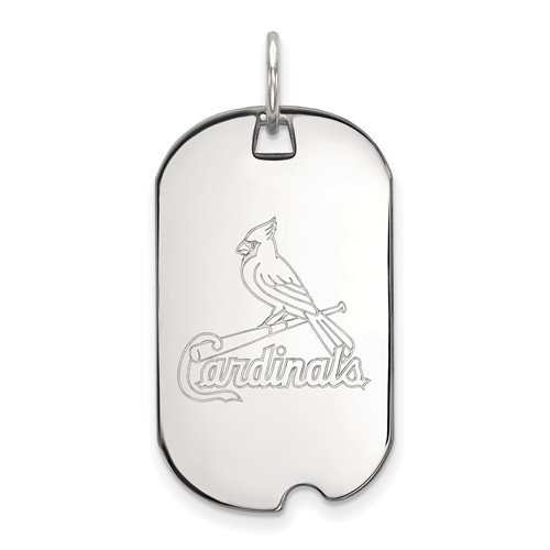 Sterling Silver St. Louis Cardinals Small Dog Tag