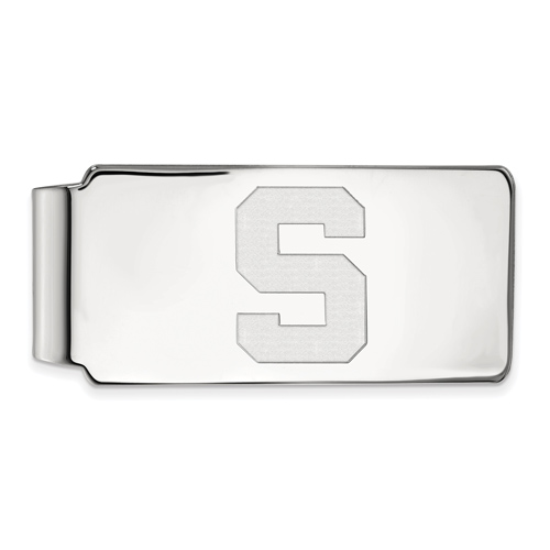 Sterling Silver Michigan State University Block S Money Clip