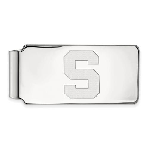 Sterling Silver Michigan State University Block S Money Clip