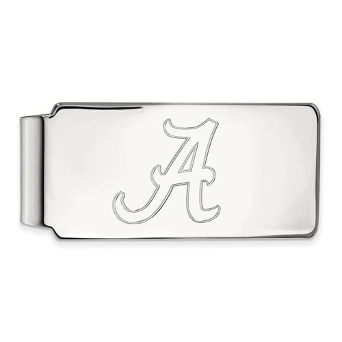 Sterling Silver University of Alabama A Money Clip