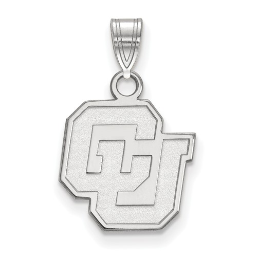 University of Colorado CU Charm 1/2in Sterling Silver