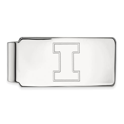 Sterling Silver University of Illinois Money Clip