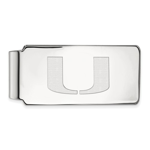 Sterling Silver University of Miami Money Clip