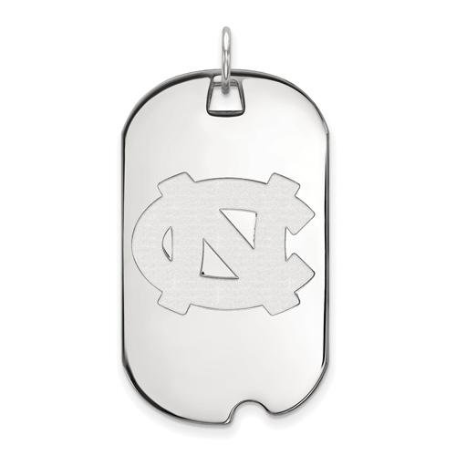 Sterling Silver University of North Carolina Dog Tag