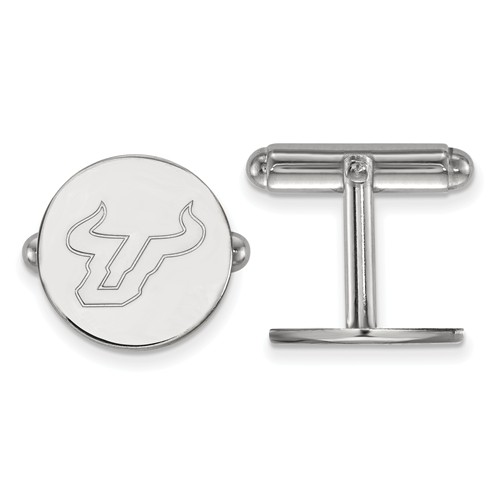 Sterling Silver University of South Florida Cuff Links