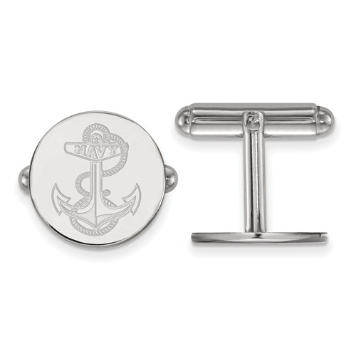 United States Naval Academy Anchor Cuff Links Sterling Silver